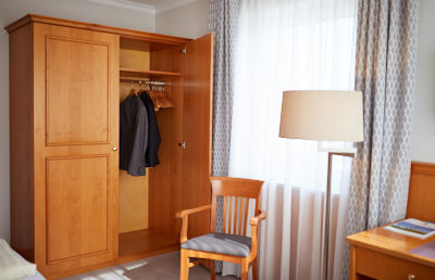 Wooden furnished rooms